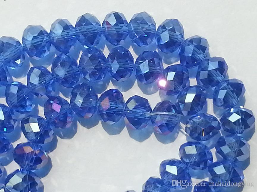 wholesale 4x6mm Blue AB Swarovski Crystal Gemstone Loose Beads bead