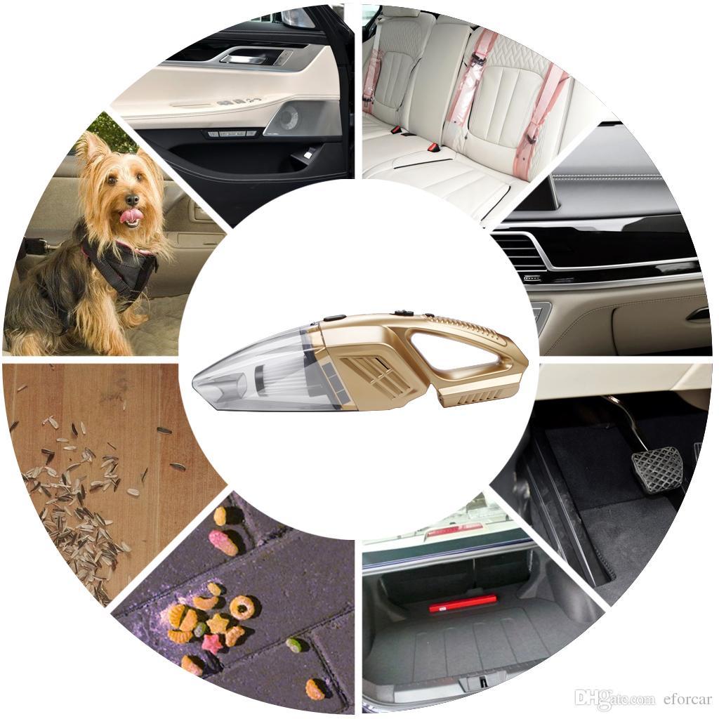 자동차 진공 청소기, EFORCAR 코어리스 충전식 소형 자동 진공 스위퍼 차량 본사 Wrieless 먼지 포수 리무버 12V 100W 신규