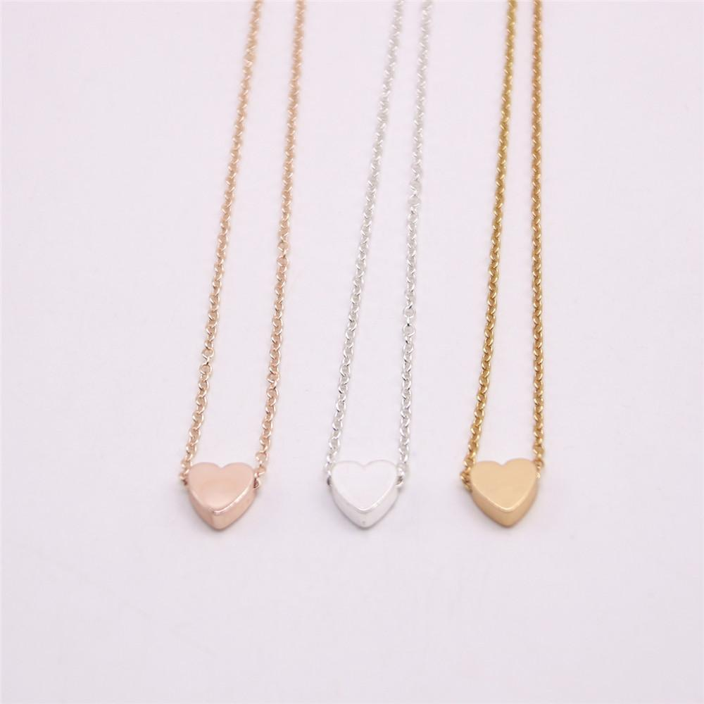 18K Gold Silver Plated Pendant necklace Flat bottom solid love necklace the best gift to women