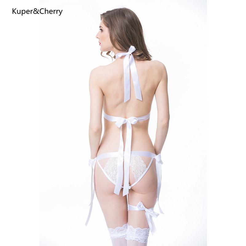 Weiweihu Topless Hollow V Neck Sexy Lingerie Open Bra Hot Women Prisoners Wild Charm Teddy Porn Erotic Apparel Lenceria