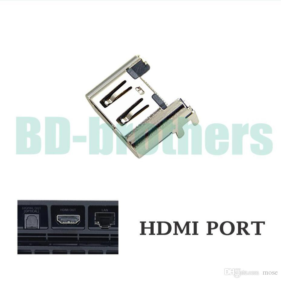Original Gold / Silver HDMI Port Socket Interface Connector for Playstation  4 PS4 Slim 200pcs/lot