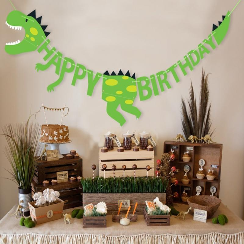 Wholesale Dinosaur Birthday Party Banners Baby Shower Decorations
