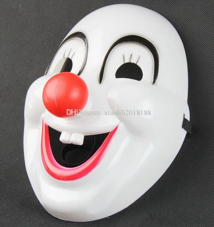 wholesale Classics Red Nose Clown Mask Jolly Mask Jester Mask for Party Halloween