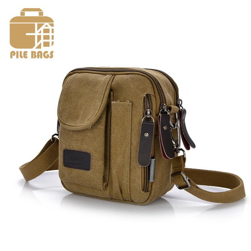 a9fbcce86e08 PILER Canvas Shoulder Bag Business Crossbody Bags For Men Messenger Bags  Vintage Casual Small Vertical Bag Famous Brand Men 2017 Messenger Bags  Satchel From ...