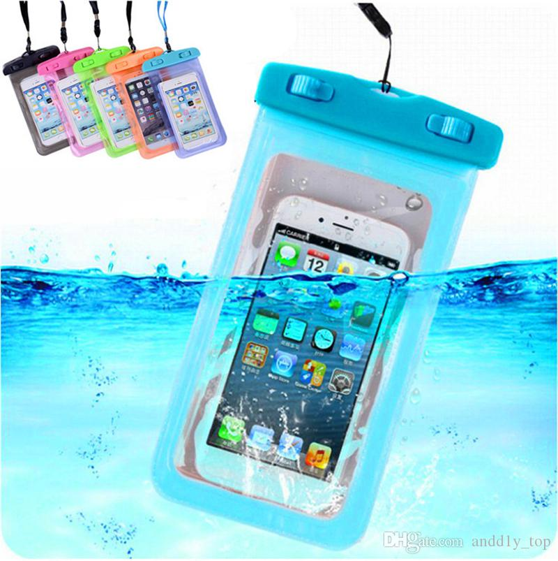 For iphone X Case Universal Clear Waterproof Pouch Bag For Samsung Galaxy S7 S9 Plus Touch Screen Waterproof Neck Pouch Bag