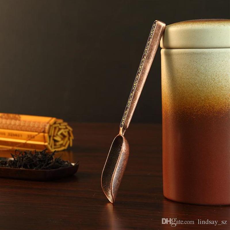 Mini hojas de té Pala cucharadita de plata en polvo cucharadas de café Cuchara de té Espátula Accesorios de té envío rápido F20173539