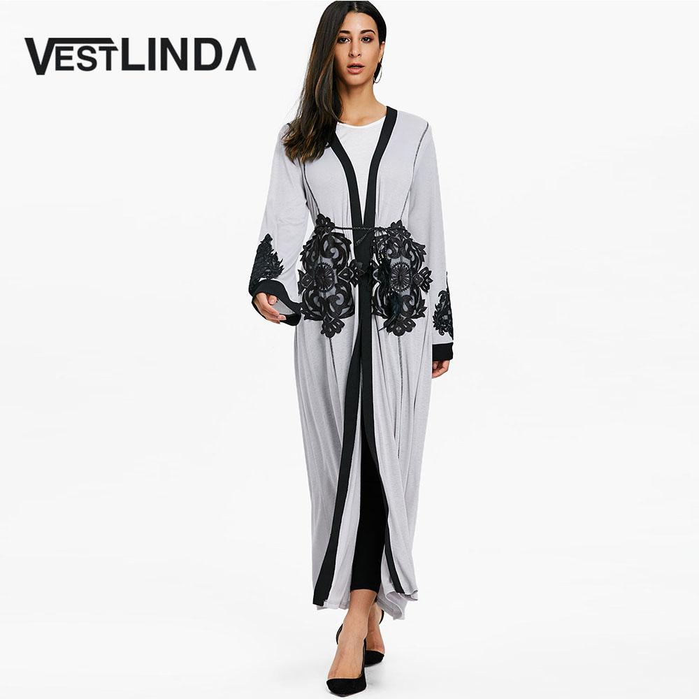 46dcbd2c3993b 2019 VESTLINDA Open Front Lace Insert Maxi Coat Trench Women Casual Fashion Long  Coats Tops Spring Ladies Outwear Patchwork Overcoat From Yujiu