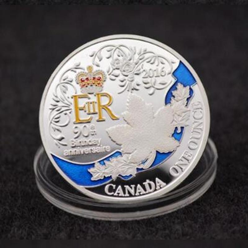 2019 The Newest Queen Elizabeth 90th Birthday Coins Silver Plated Colored 40 Mm Badge Home Souvenir Collectible Decoration Coin From Sagarsam