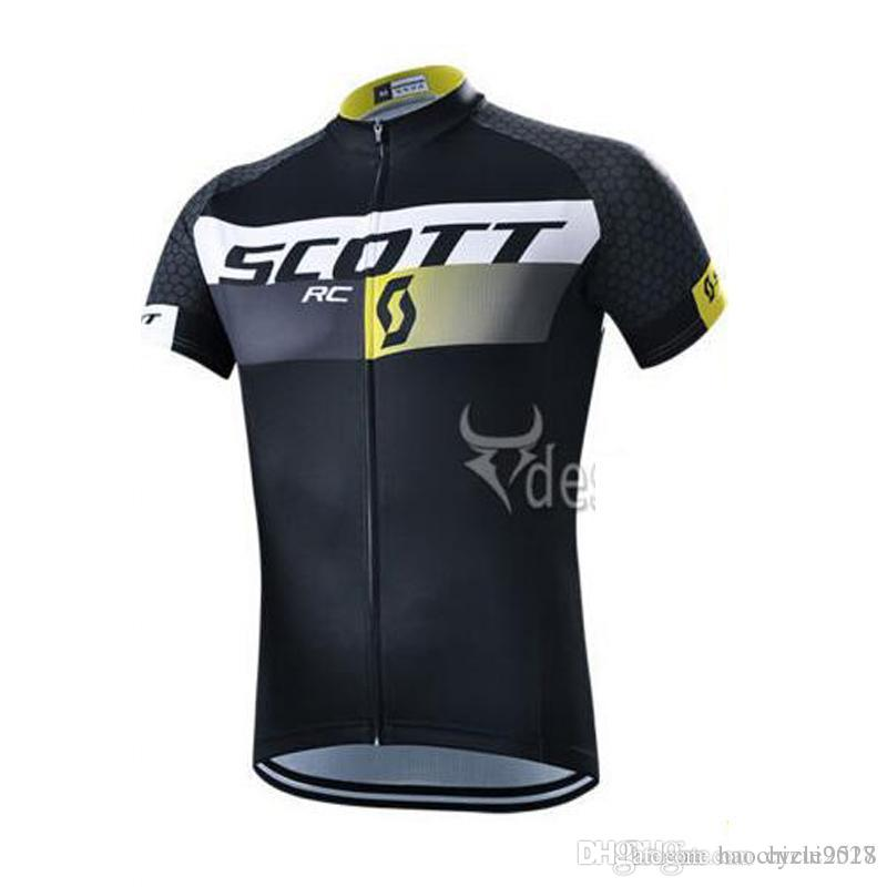 293aaff88 SCOTT 2017 New Men Cycling Short Sleeve Jersey Quick Dry Bicycle ...