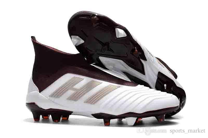 8e5ddd3fb 2018 White Black 100% Original Predator Tango 18.4 Soccer Cleats FG ACE 18.4  Football Boots Predator 18+ Messi Indoor Soccer Shoes Canada 2019 From ...