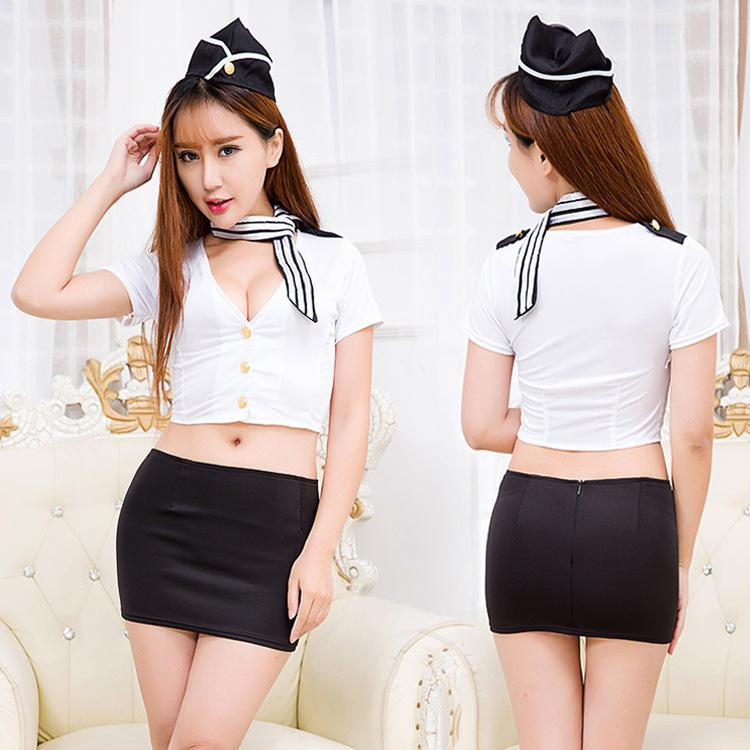 Short Skirt White Panties