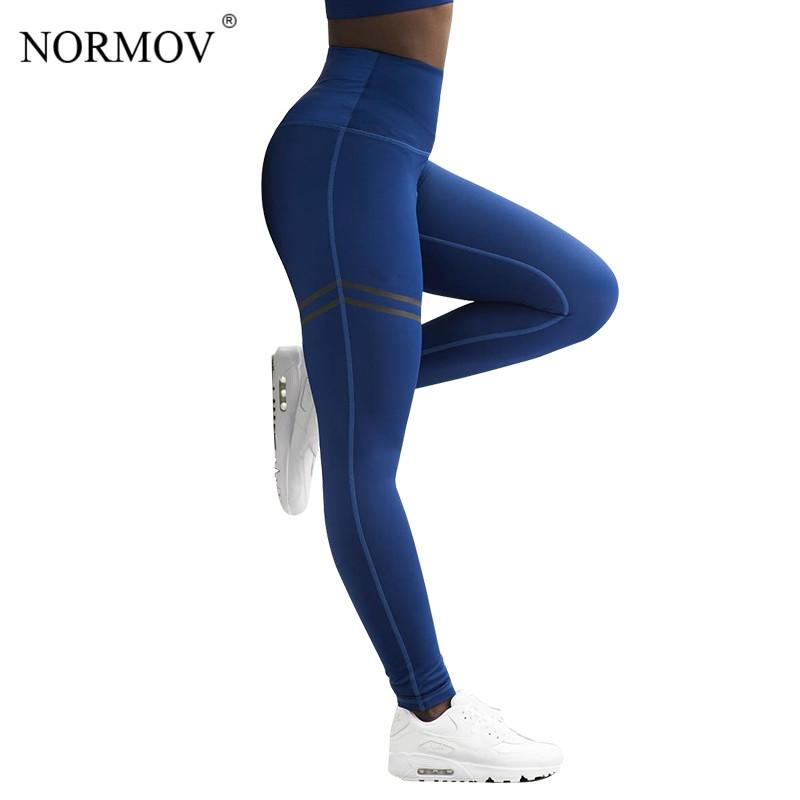 6af1f4831f60ac 2019 NORMOV Activewear High Waist Fitness Leggings Women Pants Fashion  Patchwork Workout Legging Stretch Slim Sportswear Jeggings From Cailey, ...