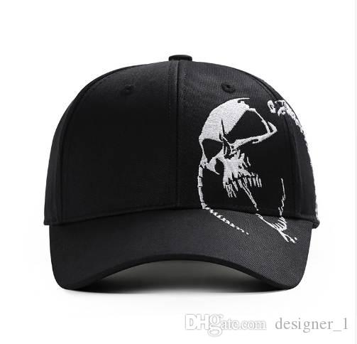 dcac57fc125 High Quality Unisex 100% Cotton Outdoor Baseball Cap Skull Embroidery  Snapback Fashion Sports Hats For Men   Women Cap Hats For Sale Neweracap  From ...