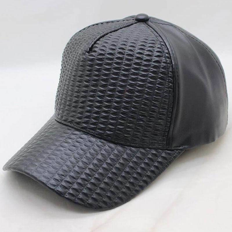 8bd1c716f7d61 Black Plaid PU Leather Dad Hat 5 Panel Trucker Baseball Caps For Men Women  Adjustable Caps Red Pink White Navy Cheap Hats Richardson Caps From ...