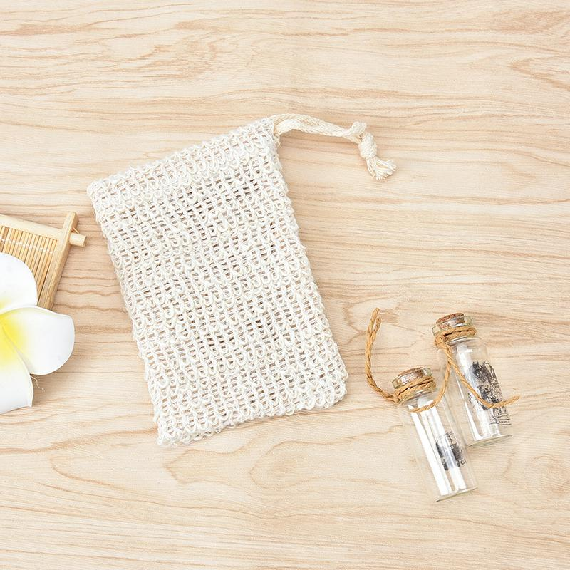 2018 1X Soap Saver Pouch Bubble Foam Net Handmade Soap Net Mesh Bag ...