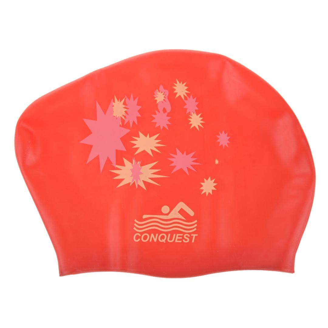 c792ffb68 Silicone Impermeável Touca De Natação Touca De Banho Star Design Red De  Simmer