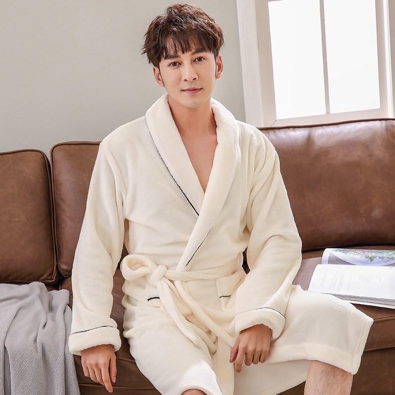 2019 Winter Women Coral Fleece Robe Dress Thicken Warm Nightgown Sexy  Sleepwear Kimono Women Casual Bath Gown From Tutucloth e4375c178