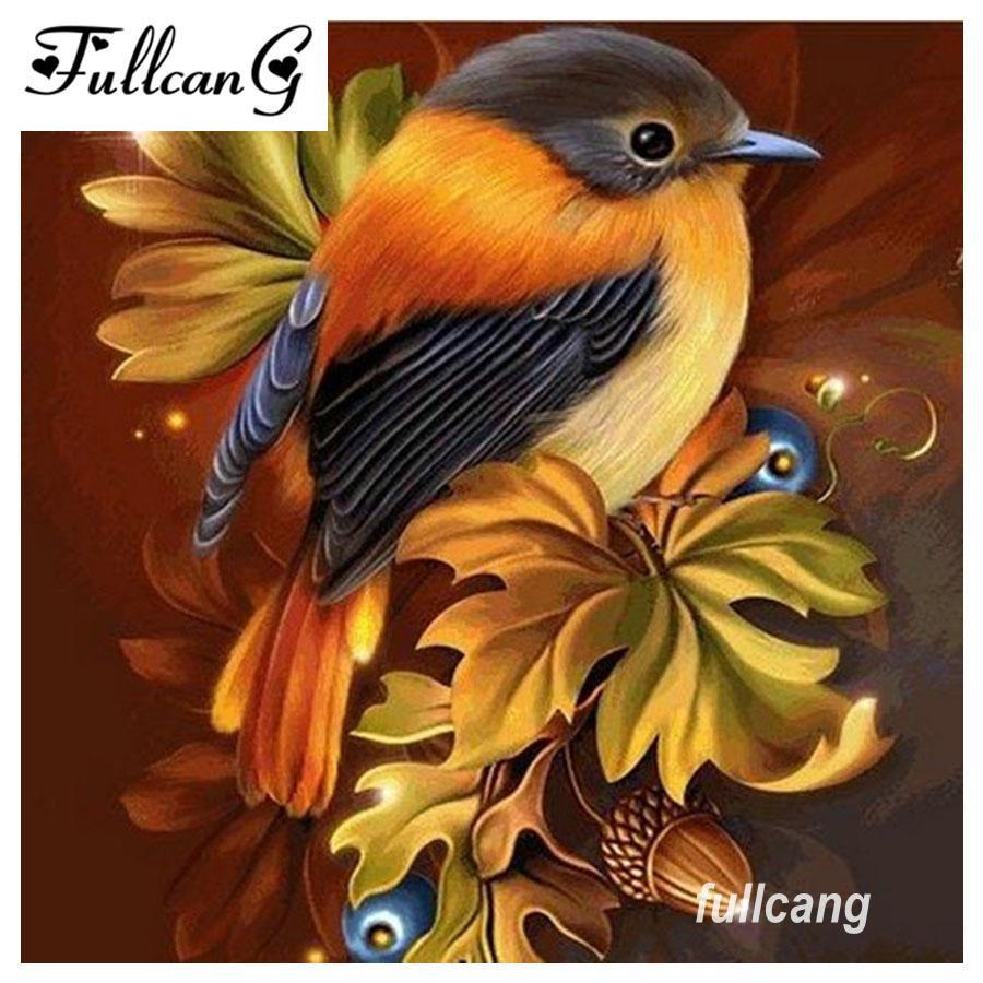 Satın Al Fullcang Diy 5d Elmas Boyama Kuş Ve çiçek Elmas Mozaik