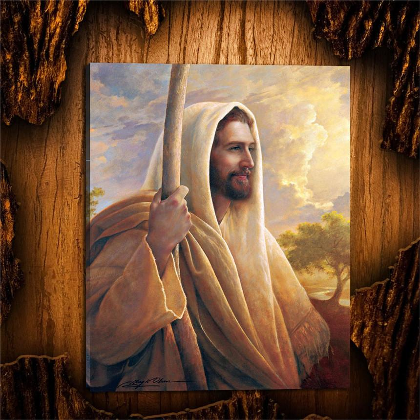 2018 Jesus Christ Lds Greg Olsen,Canvas Prints Wall Art Oil Painting ...