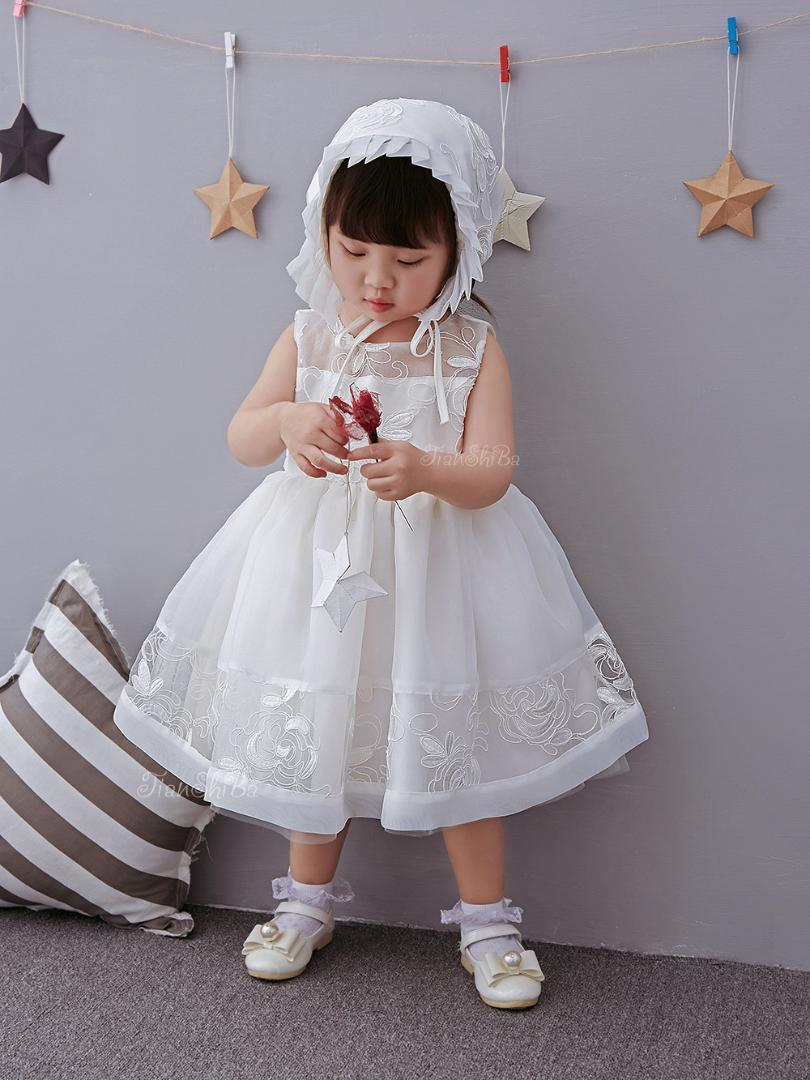 d9ed09fbd0f8 2019 Infant Clothes Girl Summer Baby Girls Dress Kids White First Birthday  Lace Lace Cute Party Dresses Newborn Princess Wear From Windowplant, ...