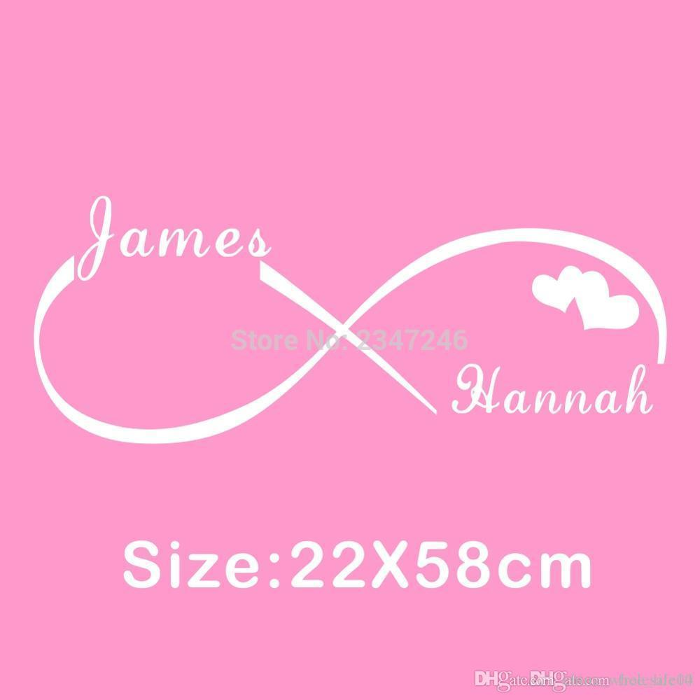 Custom personalized couple name creative infinity symbol wall stickers vinyl decals art for bedroom decoration wall decal murals wall decal printing from