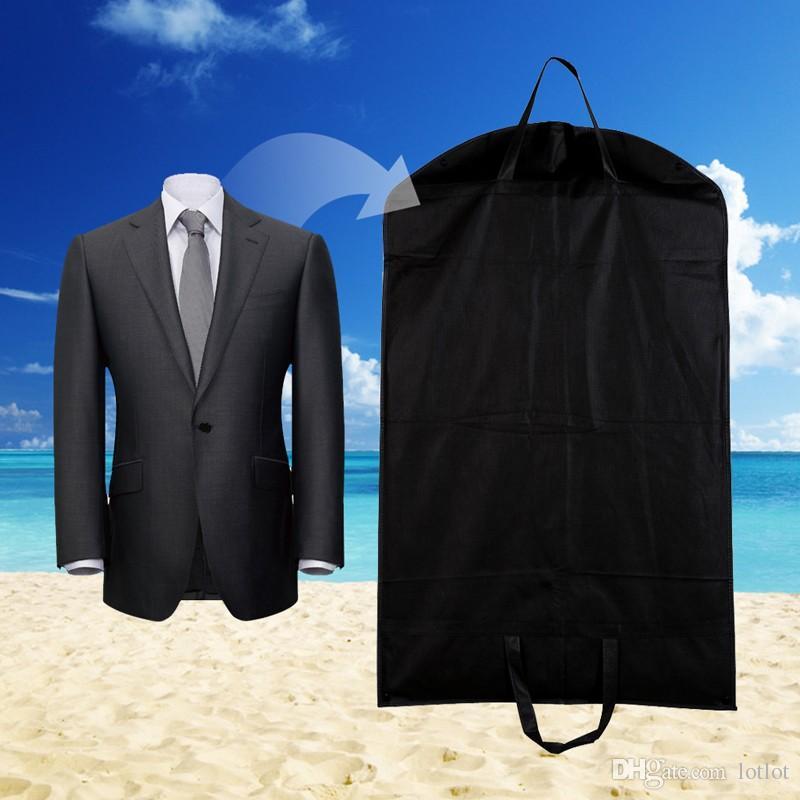 Black Dustproof Hanger Coat Clothes Garment Suit Cover Storage Bags,clothes storage,almacenamiento,Case for clothes E5M1