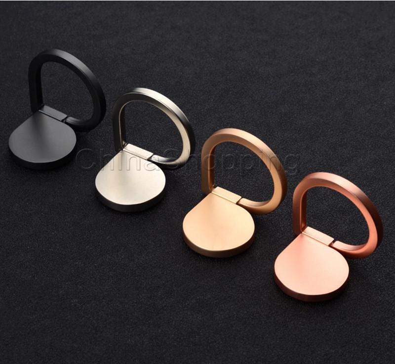 360 Rotation Metal Anel Telefone Telefone Novo Estilo Magnético Celular Titular para iPhone x Universal Todo celular com pacote de varejo
