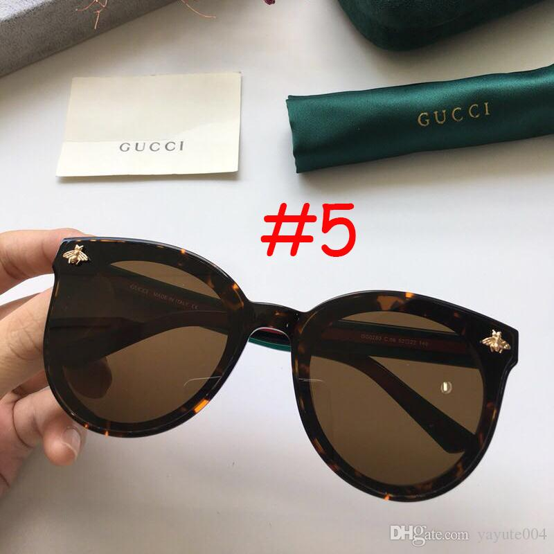 812799402f Luxury Bee Sunglasses Women Brand Design Flash Square Shades Female Mirror Sun  Glasses Oculos Lunette 2018 Reading Glasses Prescription Sunglasses From ...