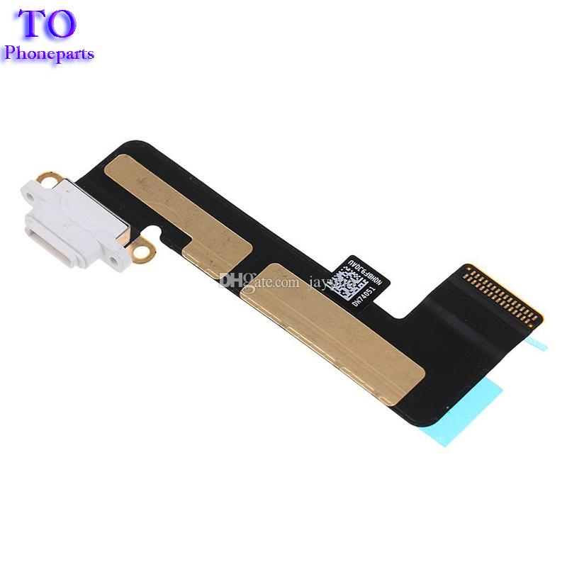 New Black And White Color Charger Charging USB Dock Port Flex Cable Ribbon Connector for iPad Mini 1
