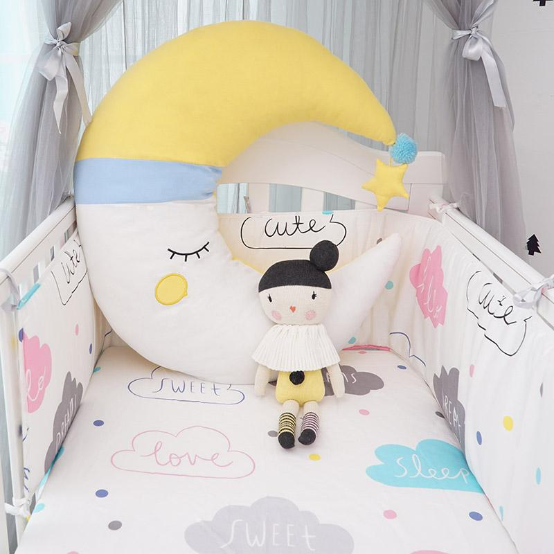 Muslinlife Moon Baby Sleeping PillowsSweety Kids Room Decorative Fascinating Baby Girl Decorative Pillows