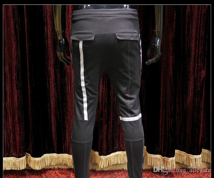 Men's Fashion Brand Sports Pants Men's New High-elastic Cotton Stripes Simple Pop Beam Youth Sports Pants Asian Size S-3XL