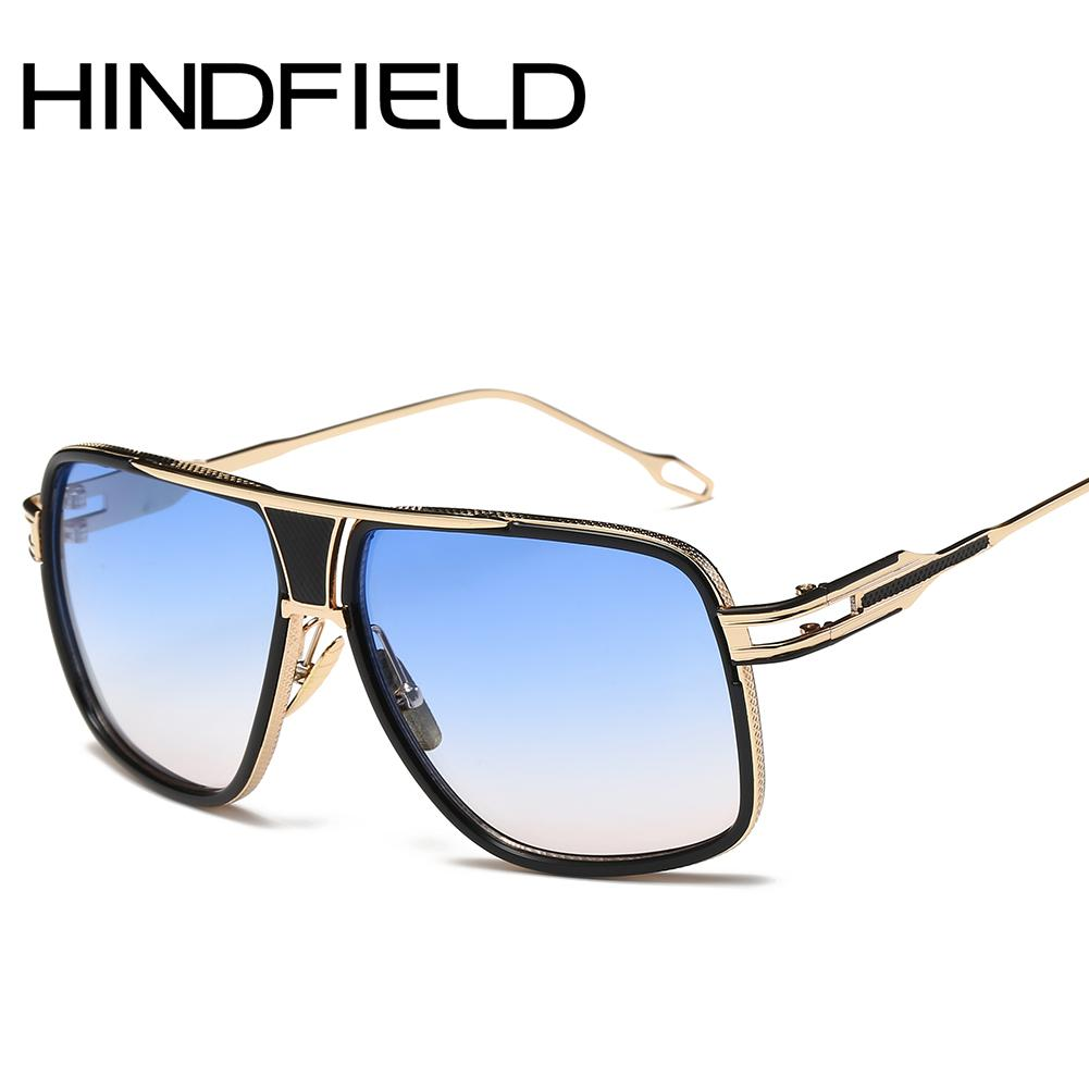 70920dc2d2b Hindfield Male Oversized Sunglasses Fashion Gradient Sunglasses ...