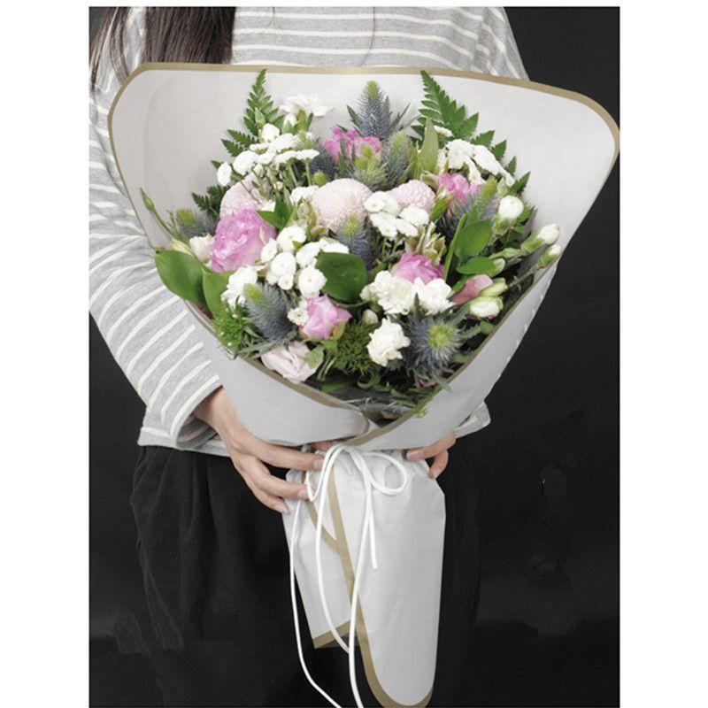 Grosshandel Runde Ecke Blume Verpackung Papier Kreis Floristische