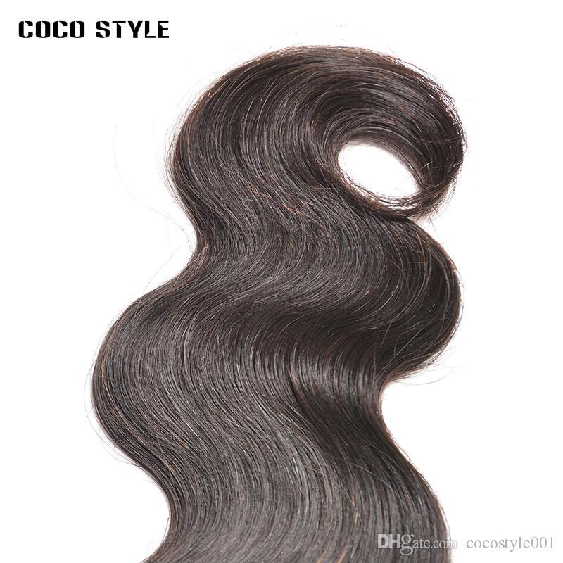 Paquetes de ondas del cuerpo del cabello humano Non-Remy Malaysian Hair teje 1 paquetes Extensiones de cabello de 8