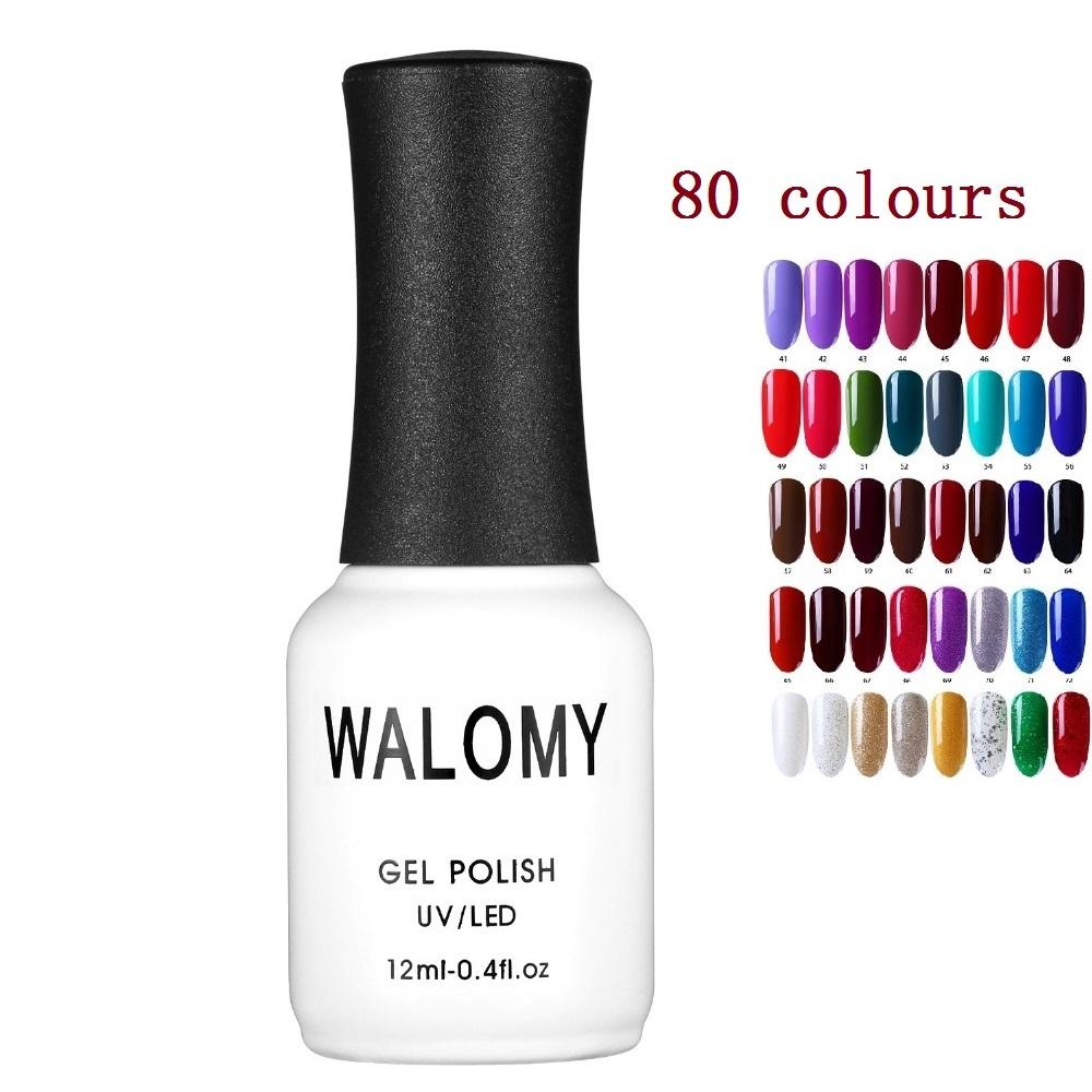 1pcs 12ml Art Nail Gel Professional Nail Polish 80 Gorgeous Color Neon  Paint Varnishes Base Coat Gel Lacquer Varnish UV LED