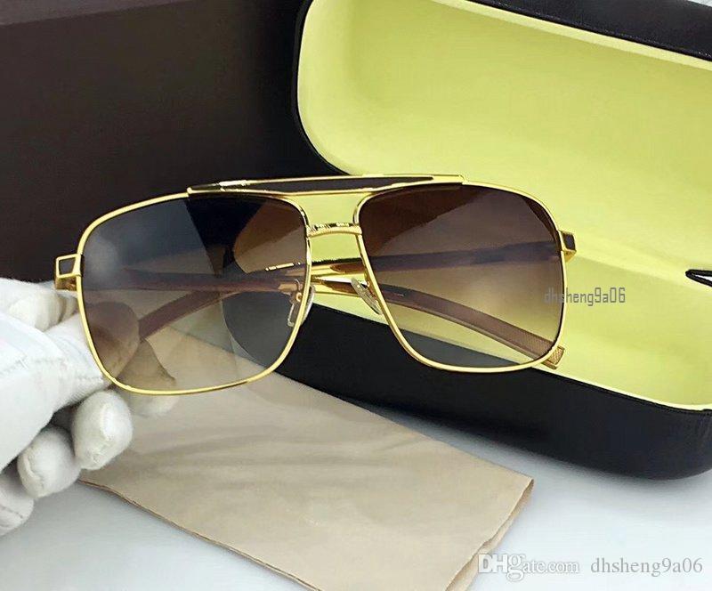 76e3b304d Compre Luxo Oversized Óculos De Sol Quadrados Dos Homens Das Mulheres  Designer Marca Piloto Óculos De Sol 2018 Óculos De Proteção Uv 60mm 0549  Lunettes De ...