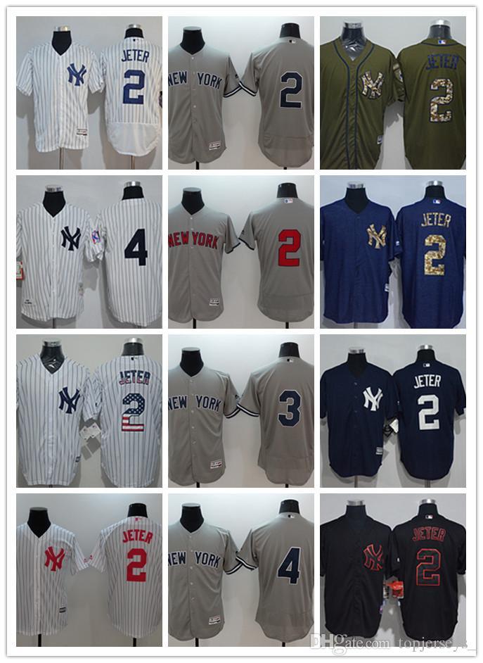 new product 27292 90a9b custom Men women youth NY Yankees Jersey #8 Yogi Berra 5 Joe DiMaggio 4 Lou  Gehrig 3 Babe Ruth 2 Derek Jeter Black White Baseball Jerseys
