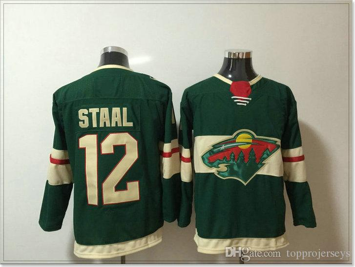 Minnesota Wild #11 Zach Parise 12 Eric Staal New Mens Ice Hockey Shirts Team Sports Pro Jerseys Cheap Uniforms Stitched Embroidery On Sale