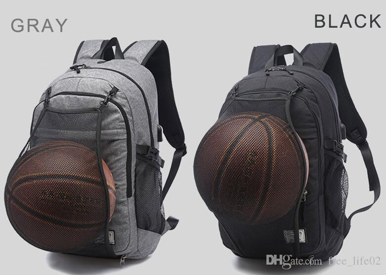Wholesale Sport Backpack Men Laptop Backpack School Bag For Teenager Boys Soccer Ball Pack Bag Gym Bags Male With Football Basketball Net