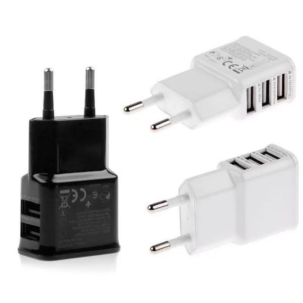 5V 2A de carga rápida EU US 3 puertos USB Adaptador de corriente de cargador de pared casero para iphone x 8 7 para samsung s8s6 s7