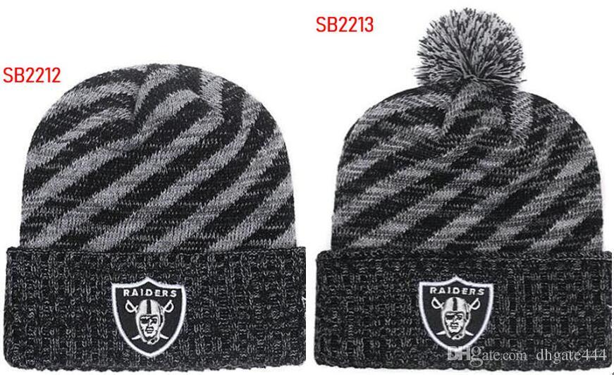 Winter Hat Raider Beanie Steel Stripes Sideline Cold Weather Graphite Sport Knit  Hat Wool Bonnet Warm Official Reverse Cap Beanie Raider Beanies Raider ... 230976147df