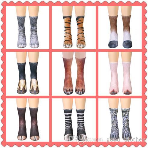 Women's Socks & Hosiery Underwear & Sleepwears Supply New Funny Socks 3d Paw Printed Animal Socks Women Cat Zebra Leopard Panda Paw Long Cotton Socks For Women Men Unisex In Many Styles