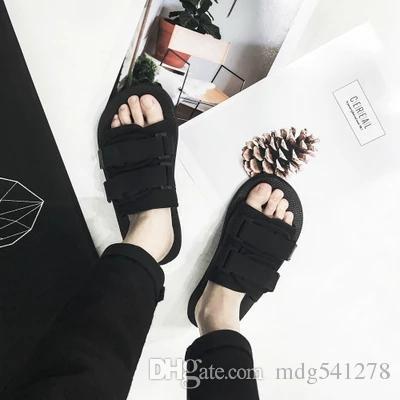183274400 Men Beach Black Slippers Comfortable Male Flip Flops Male Big Size ...