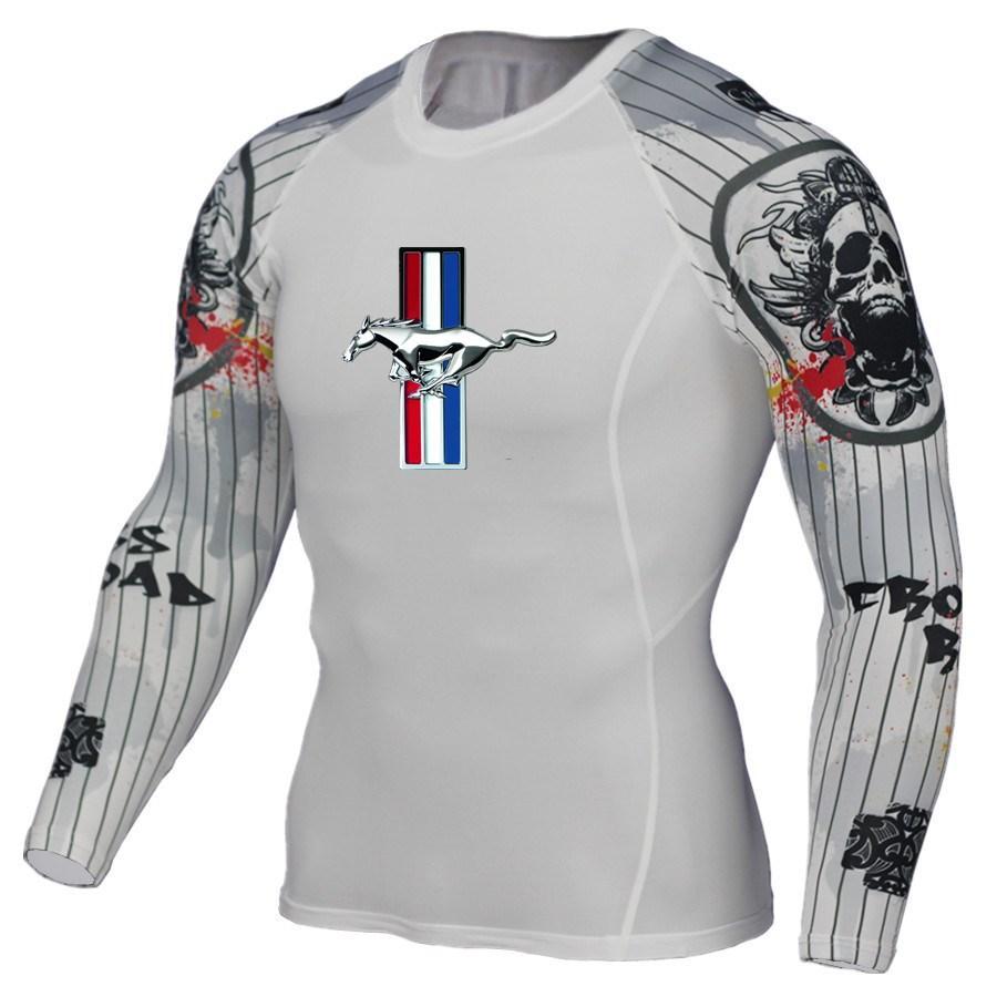 f57fa15b2fc Men T shirt Compression Shirt Crossfit tshirt Mens 3D Print Long Sleeve T  Fitness Brand Clothing MMA Ford Mustang printing