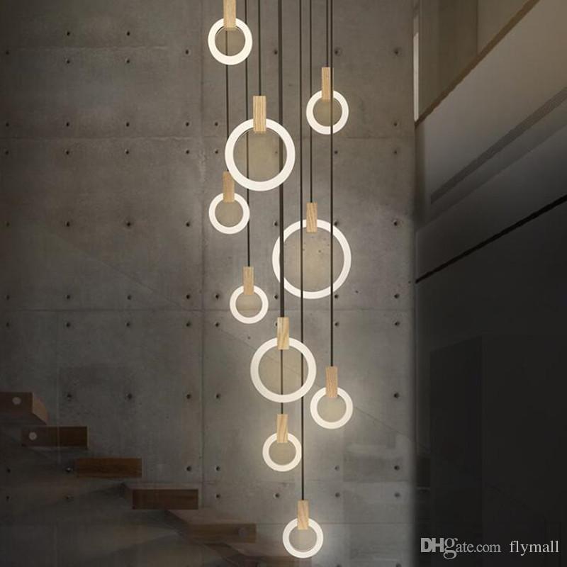 Moderne LED-Kronleuchter nordischen Wohnzimmer Pendelleuchte Schlafzimmer  Leuchten Treppenbeleuchtung Neuheit Beleuchtung Loft Hängeleuchten
