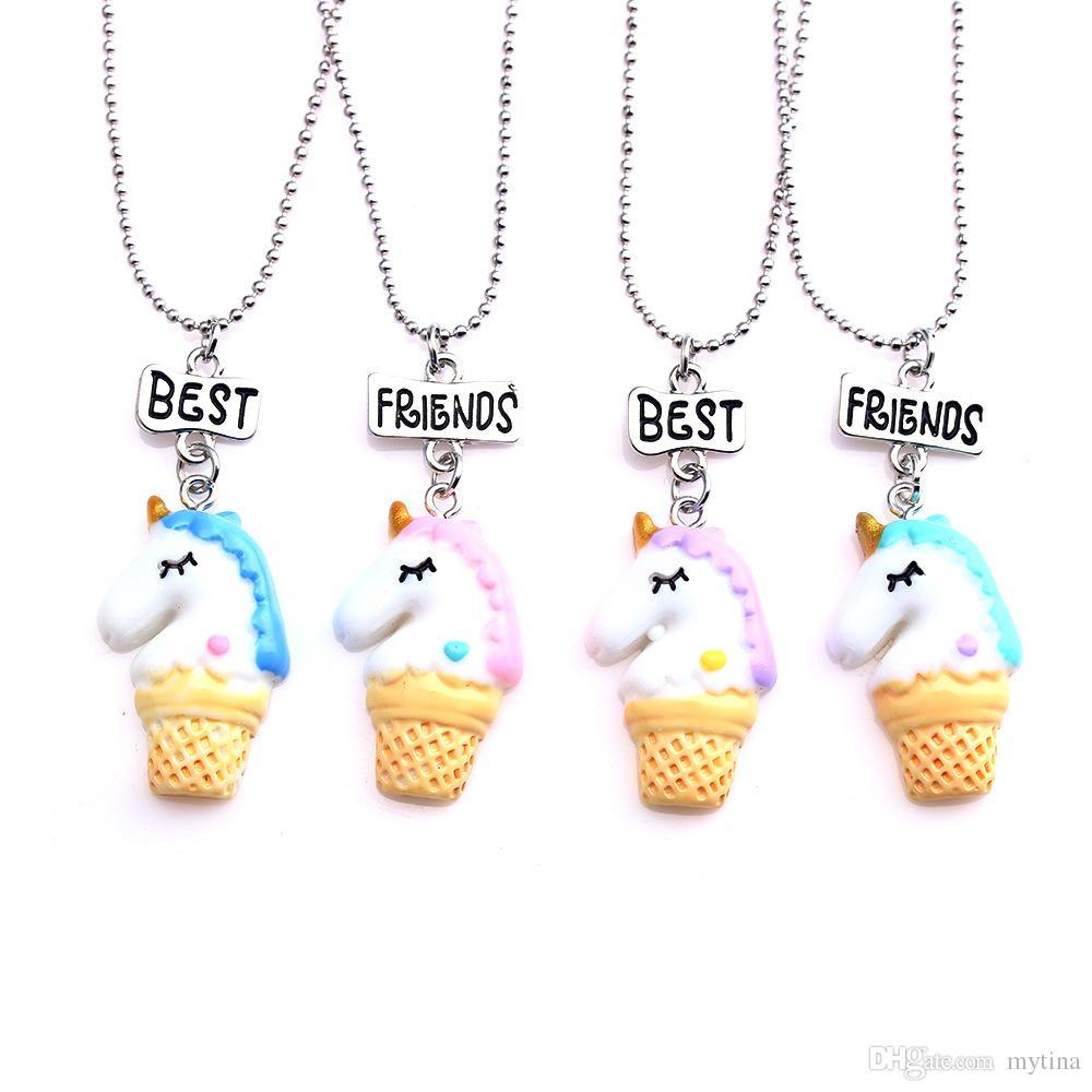 Creative Ice-cream Unicorn Resin Cartoon Necks Pendants Kids ...