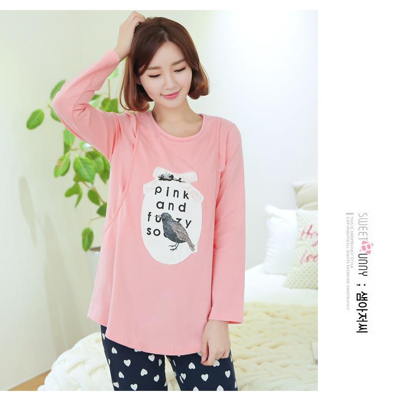 c22517e89 2019 Pink Green Pregnant Maternity Clothes Nursing Clothes Nursing Tops+Pants  Breastfeeding Long Sleeve T Shirt For Pregnant Women From Dejavui, ...