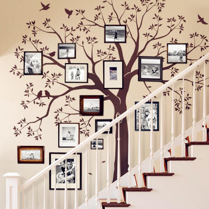 Huge Family Tree Wall Decal Vinyl Stickers Decor Staircase Family