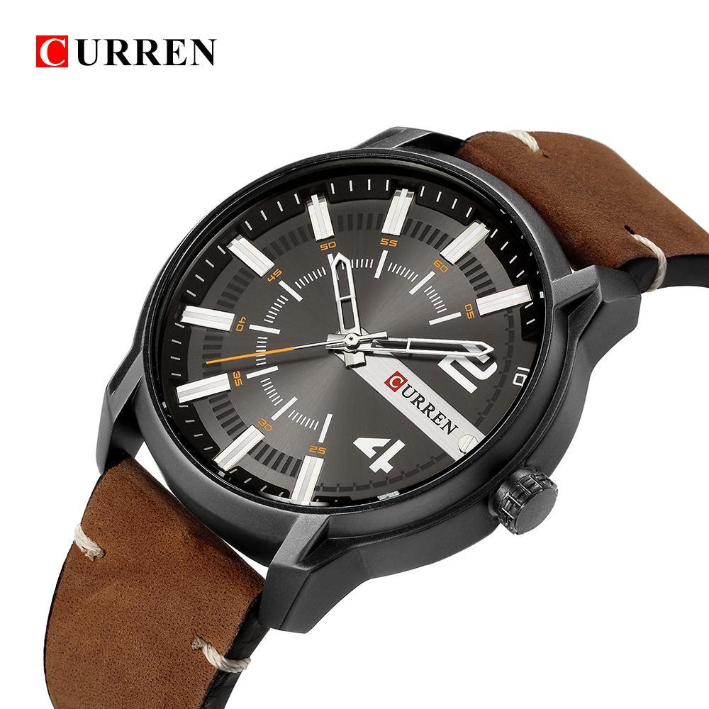 db9d829b027 CURREN 8306 2018 Men S Fashion Sport Watches Men Quartz Analog Date Clock  Man Leather Waterproof Watch Relogio Masculino Cheap Branded Watches Buy  Cheap ...