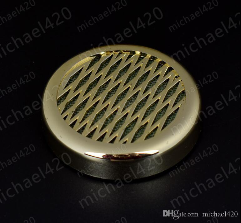 2 개 담배 담배 가습기 57mm 골드 컬러 라운드 플라스틱 담배 휴 미디 휴대용 흡연 액세서리